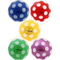 Játéklabda, gumilabda 15 cm, pöttyös A-sport