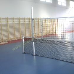 Kombinált hálótartó állvány, hüvelyes (röplabdához és teniszhez), beltéri