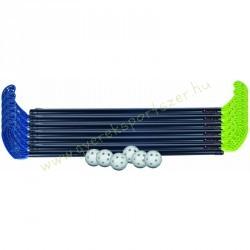 Floorball készlet műanyag szett 85 cm 2x6 ütő, 6 labda PRO-SPORT