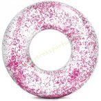 Csillám úszógumi átlátszó rózsaszín 119 cm Intex