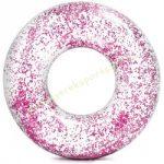 Csillám úszógumi átlátszó rózsaszín Intex