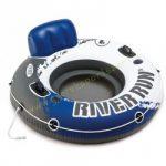 Háttámlás úszó fotel Intex Run River kék