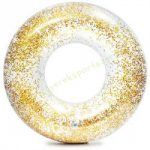 Csillám úszógumi átlátszó arany 119 cm Intex