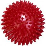 Tüskés masszírozó labda Trendy 9 cm piros