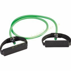 Gumikötél szivacs fogantyúval, Erősítő gumikötél közepes zöld Trendy