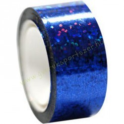 Tornakarikára ragasztható dekorációs szalag  csillám kék 14 m
