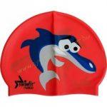 Úszósapka gyerek, cápás piros SWIMFIT