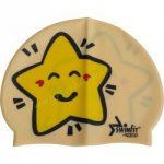 Úszósapka gyerek, csillagos sárga SWIMFIT
