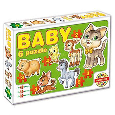 Bébi puzzle, kirakó  háziállatokkal