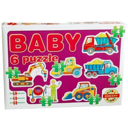 Bébi puzzle, kirakó  munkagépekkel