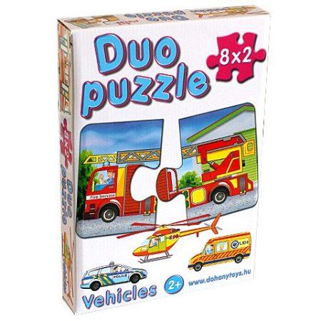 Bébi Duo puzzle SOS járművekkel D-Toys