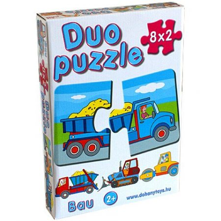 Bébi Duo puzzle munkagépekkel D-Toys