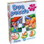 Bébi Duo puzzle farm állatokkal Dohány-Toys