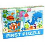 Bébi  első puzzle tengeri állatokkal D-Toys
