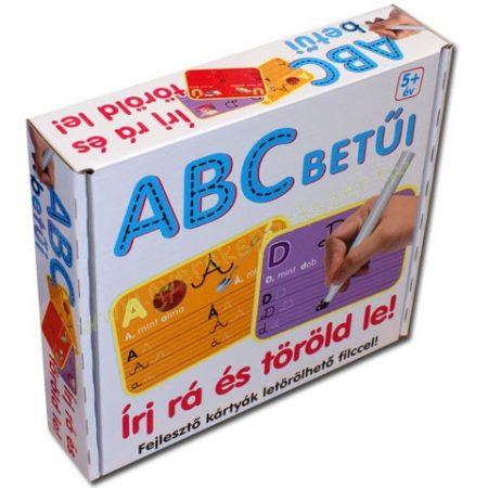 Írj rá és töröld le! - ABC betűi fejlesztő játék