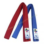 Karate ruha öv Arawaza színes WKF verseny öv Kék