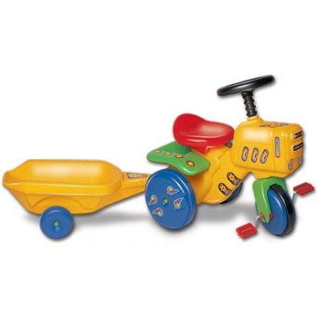 Kerti traktor utánfutóval - pedálos 101