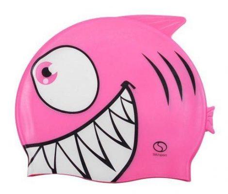Szilikonos hal mintájú gyermek úszósapka Pink