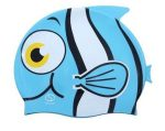 Szilikonos bohóchal mintájú gyermek úszósapka kék II.