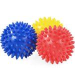 Tüskés masszírozó labda szett (3db) Soft 7,5 cm PRO-SPORT