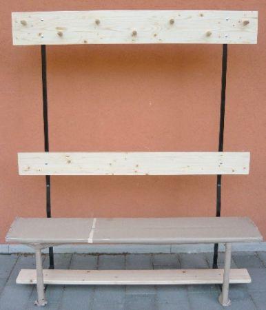 Öltözőpad, 1,5 m-es PRO-SPORT