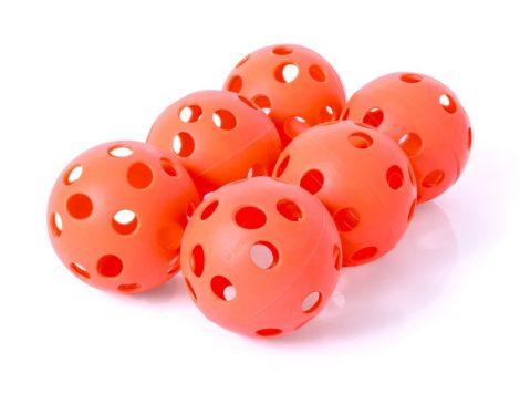 Floorball labda szett 6 db-os Piros PRO-SPORT