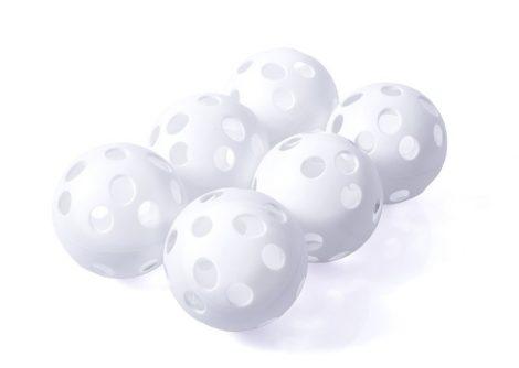 Floorball labda szett 6 db-os Fehér PRO-SPORT
