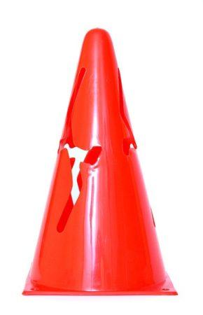 Bója, 23 cm puha összenyomható műanyag Piros, PRO-SPORT