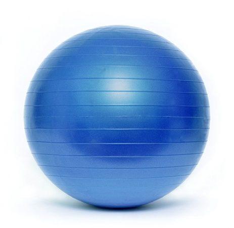 Gimnasztikai labda PREMIUM Durranásmentes 55 cm pumpával SMJ Kék