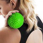 Tüskés masszírozó labda Zöld, Hard 9 cm PRO-SPORT