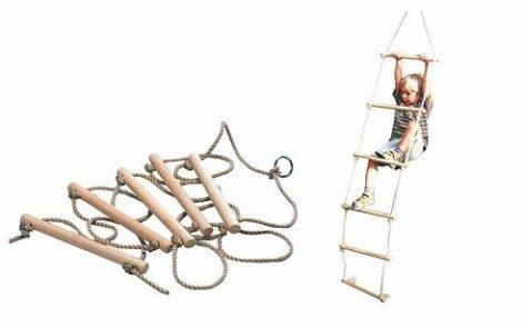 Kötéllétra, fa, natúr, 6 fokos 2 méteres PRO-SPORT