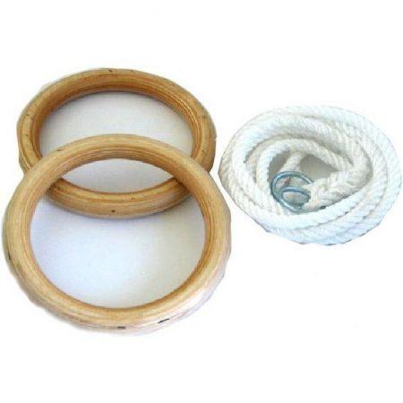 Felnőtt gyűrű, tornagyűrű 1,7m kötéllel fa PRO-SPORT
