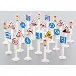Közlekedési jelzőtáblák, kresz táblák 24 darabos