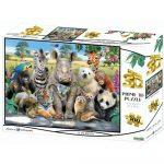 Állati osztálykép 3D puzzle, 500 darabos PRIME 3D