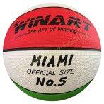 Kosárlabda Winart Miami 5-ös méret piros-fehér-zöld
