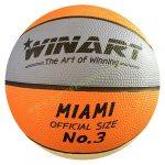 Kosárlabda WINART Miami 3-as méret orange/white/purple