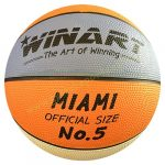 Kosárlabda WINART Miami 5-ös méret orange/white/purple
